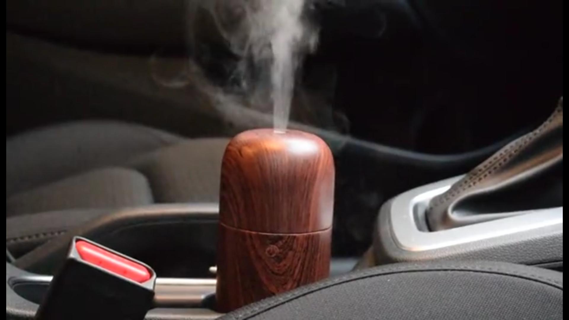 Wood Grain Car Aroma Diffuser Air Freshener/Humidifier